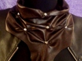 Pañoleta cuero marrón