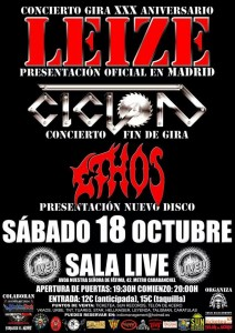Cartel 18 Oct. Sala Live