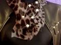 Pañoleta leopardo gris